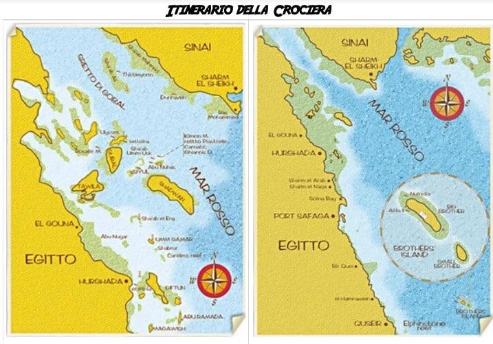 Itinerario crociera Mar Rosso