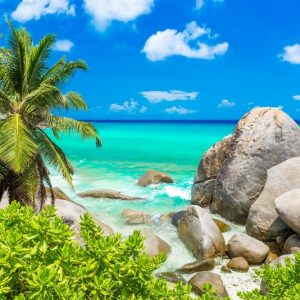 Costa tropicale alle Seychelles