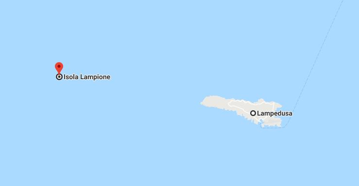 Mappa Isola di Lampione