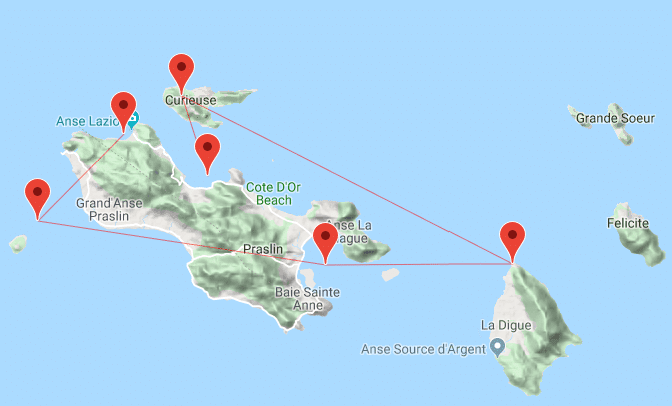 Itinerario crociera sub Seychelles