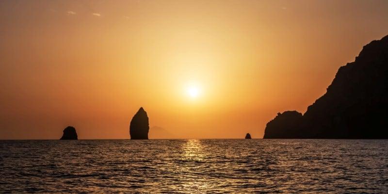 Isole Eolie al tramonto