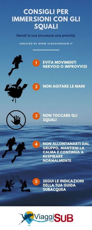 Consigli per immersioni con gli squali