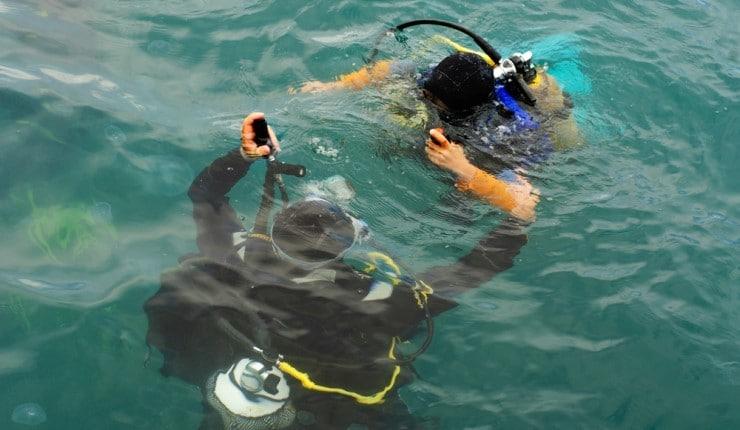 Corretta pesata subacquea