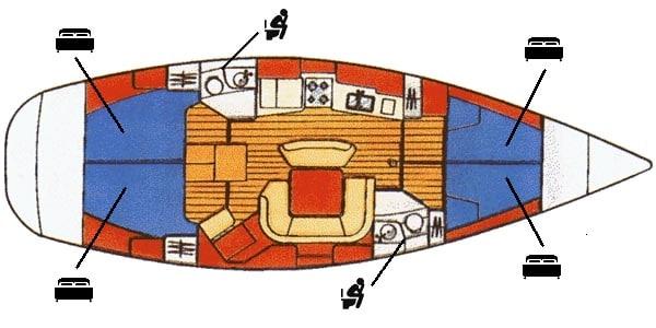 Sun Odyssey Map detail