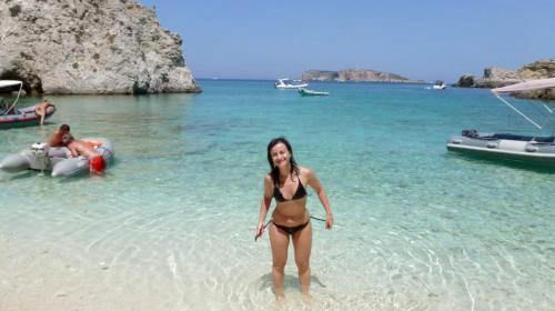 Baia della spiaggia i Pagliai Isole Tremiti