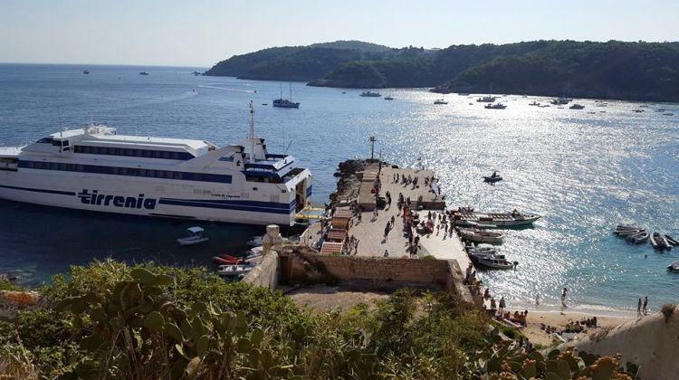 Traghetti per le Tremiti (vista da San Nicola)