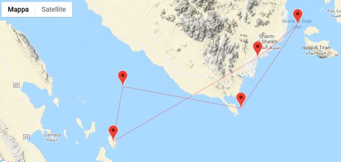 Crociera sub Mar Rosso, itinerario